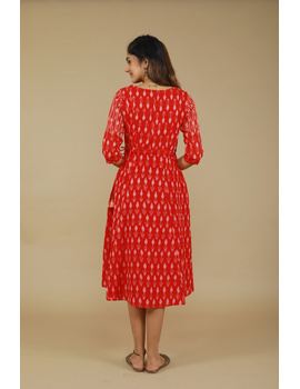 RED LEAF IKAT DRESS : LD390D-M-3-sm