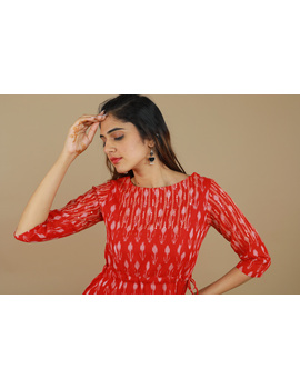 RED LEAF IKAT DRESS : LD390D-M-4-sm