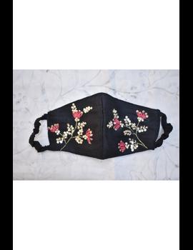 Semi silk mask with zardosi hand embroidery: ZM4-ZM4A-sm