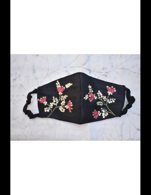 Semi silk mask with zardosi hand embroidery: ZM4-ZM4A