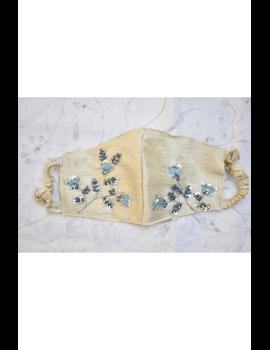 Semi silk mask with zardosi hand embroidery: ZM4-ZM4C-sm