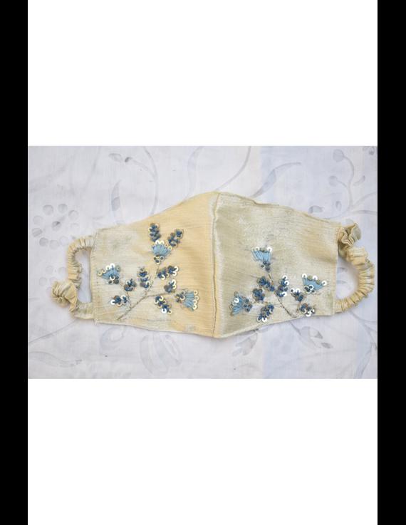 Semi silk mask with zardosi hand embroidery: ZM4-ZM4C