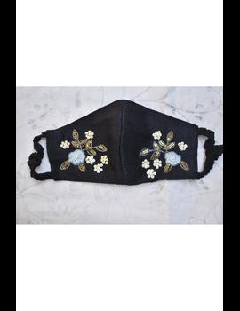 Semi silk mask with zardosi hand embroidery: ZM6-ZM6A-sm