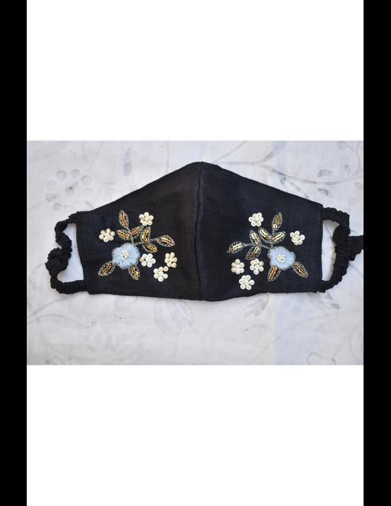 Semi silk mask with zardosi hand embroidery: ZM6-ZM6A