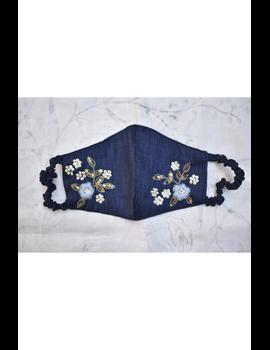 Semi silk mask with zardosi hand embroidery: ZM6-ZM6B-sm