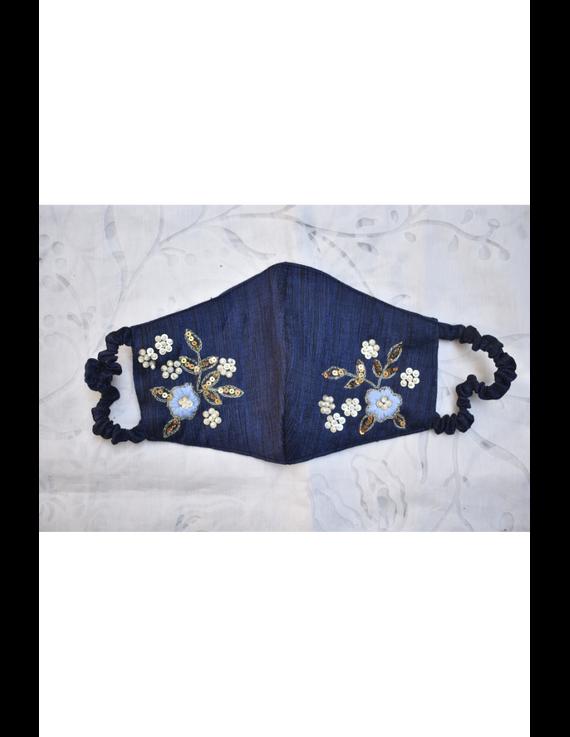 Semi silk mask with zardosi hand embroidery: ZM6-ZM6B