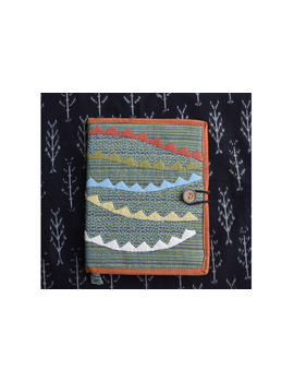 Hand embroidered diary sleeve - STJ06-Handmade Paper-2-sm
