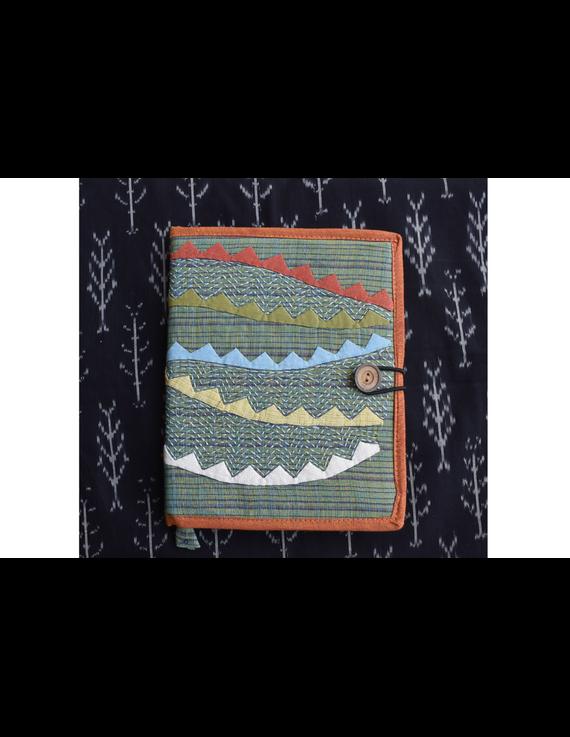 Hand embroidered diary sleeve - STJ06-Handmade Paper-2