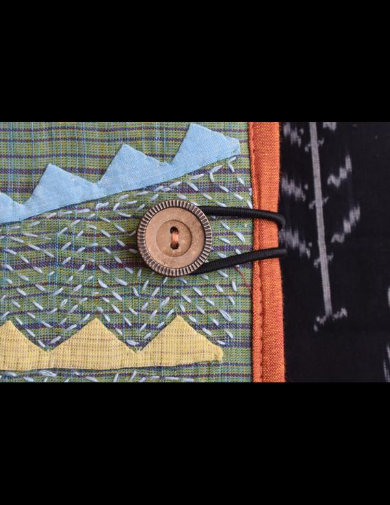 Hand embroidered diary sleeve - STJ06-Handmade Paper-3