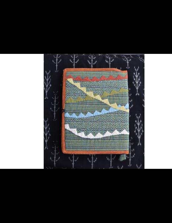 Hand embroidered diary sleeve - STJ06-Handmade Paper-4