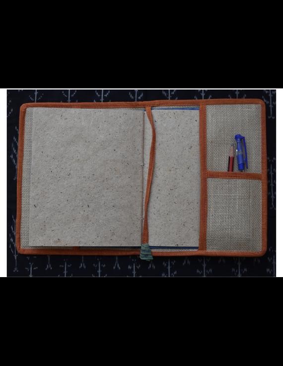 Hand embroidered diary sleeve - STJ06-Handmade Paper-5