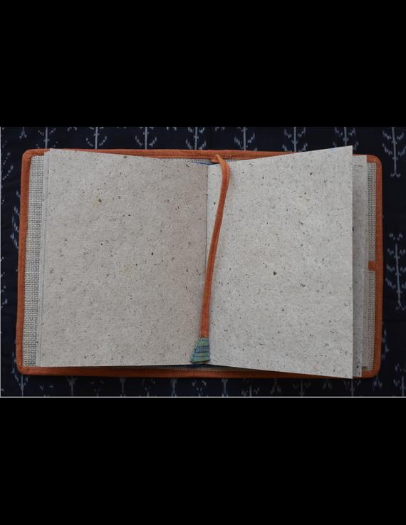 Hand embroidered diary sleeve - STJ06-Handmade Paper-6