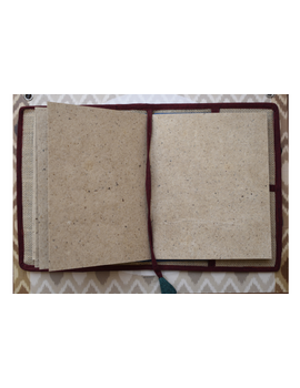 Hand embroidered diary sleeve - STJ07-Handmade paper-4-sm
