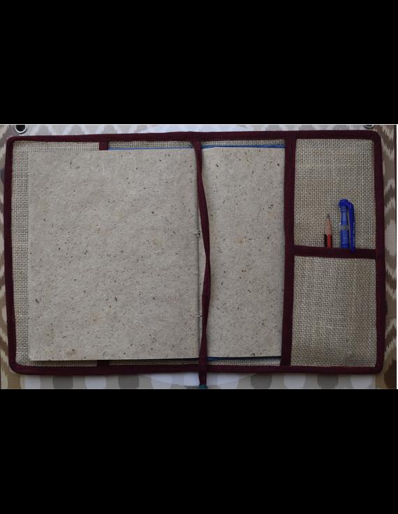 Hand embroidered diary sleeve - STJ07-Handmade paper-3