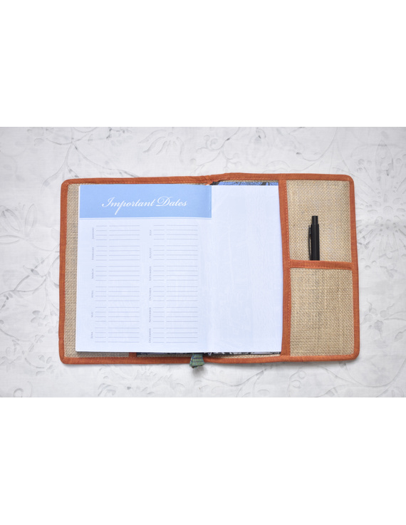 Hand embroidered diary sleeve - STJ06-Ruled Paper-5