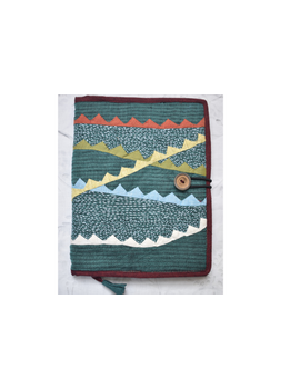 Hand embroidered diary sleeve - STJ07-Ruled Paper-5-sm