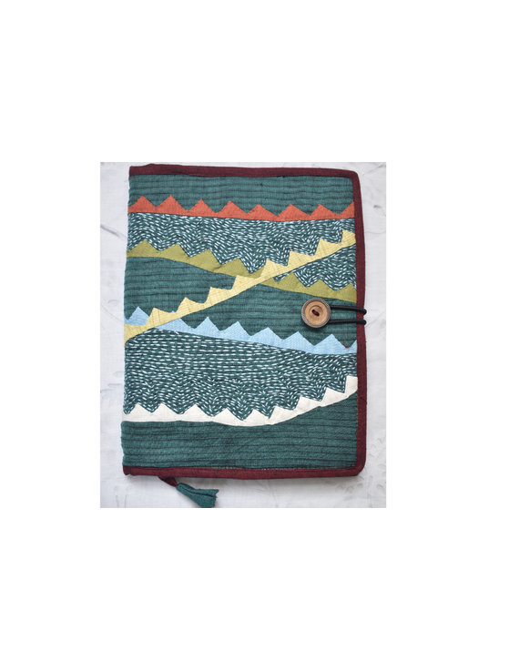 Hand embroidered diary sleeve - STJ07-Ruled Paper-5