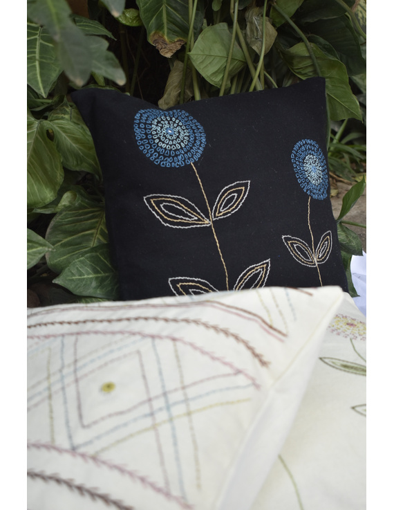 Embroidered cushion cover : HCC35-2