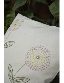 Embroidered cushion cover : HCC34-1-sm