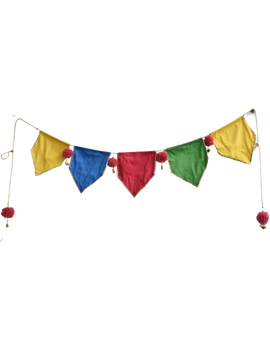 Bright Silk toran or bunting decoration for walls and doors: HWD02-HWD02-sm