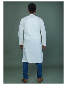 GENTS MUSLIN LONG KURTA WITH HAND EMBROIDERY : GT440A-XL-2-sm