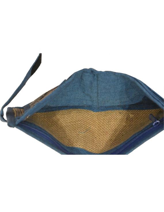 Blue stripe unisex wallet broad : WLU03-1