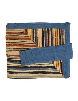 Blue stripe unisex wallet broad : WLU03-3-sm