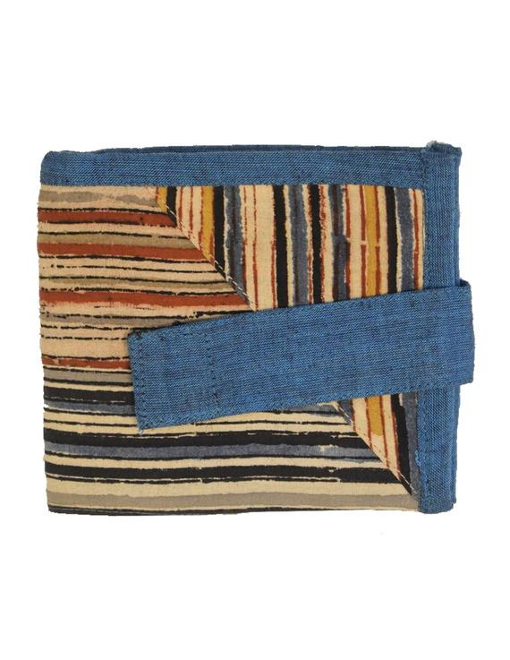 Blue stripe unisex wallet broad : WLU03-3