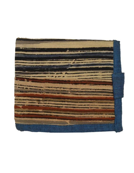 Blue stripe unisex wallet broad : WLU03-4