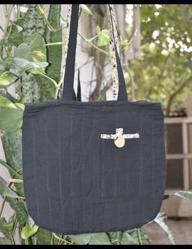 Black quilted flat bag : TBI04-TBI04-sm