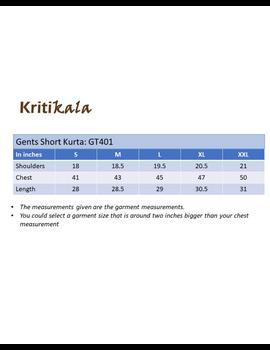 Steel grey handloom cotton short kurta with half sleeves: GT401HFA-XL-Steel Grey-2-sm