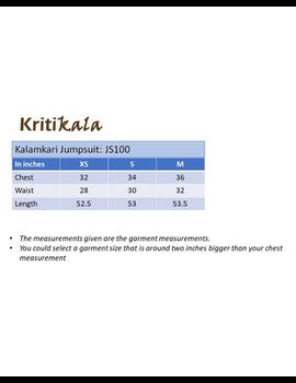Kalamkari cotton maroon striped jumpsuit : JS100A-JS100A-S-sm