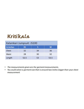 Kalamkari cotton yellow striped jumpsuit : JS100B-JS100B-M-sm