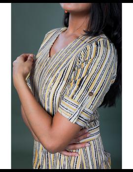 Kalamkari cotton maroon striped jumpsuit : JS100A-M-3-sm