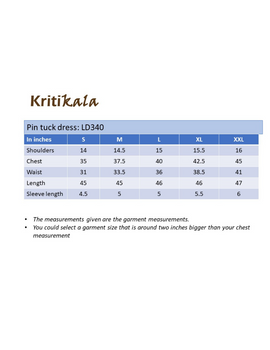 NAVY BLUE A LINE IKAT DRESS WITH PINTUCKS: LD340B-M-4-sm