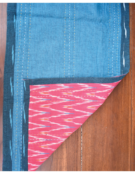 Blue And Pink Reversible Ikat Table Runners : HTR01-13 x 72-2