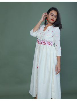APPLIQUE WORK LONG JACKET DRESS WITH MATCHING INNER: LD710A-M-1-sm