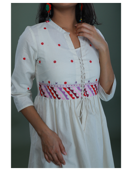 APPLIQUE WORK LONG JACKET DRESS WITH MATCHING INNER: LD710A-M-3-sm