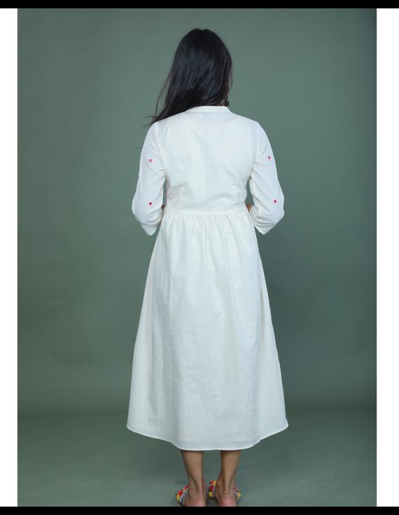 APPLIQUE WORK LONG JACKET DRESS WITH MATCHING INNER: LD710A-XL-2