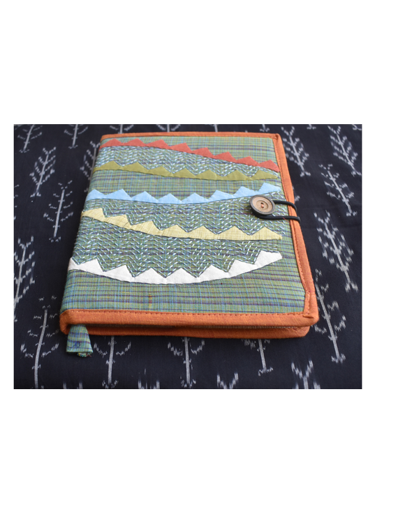 Hand embroidered diary sleeve with journal - STJ06-1