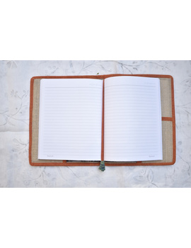 Hand embroidered diary sleeve with journal - STJ06-2-sm