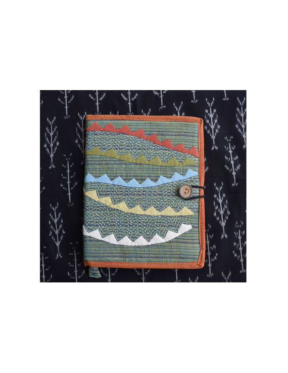 Hand embroidered diary sleeve with journal - STJ06-3