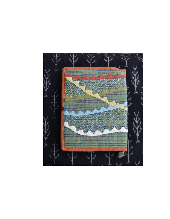 Hand embroidered diary sleeve with journal - STJ06-5