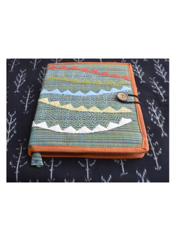 Hand embroidered diary sleeve with journal - STJ06-STJg06B-sm