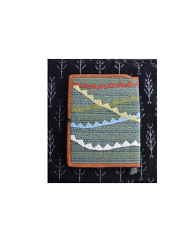 Hand embroidered diary sleeve with journal - STJ06-3-sm
