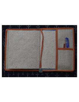 Hand embroidered diary sleeve with journal - STJ06-4-sm