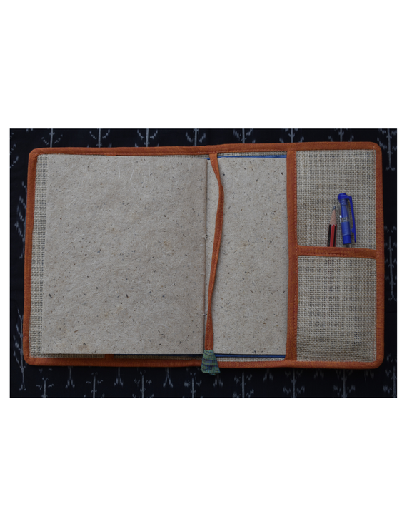 Hand embroidered diary sleeve with journal - STJ06-4