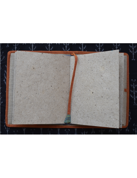 Hand embroidered diary sleeve with journal - STJ06-5-sm