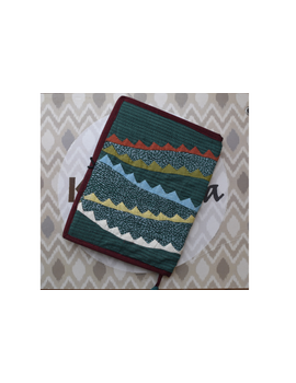 Hand embroidered diary sleeve with journal - STJ07-1-sm