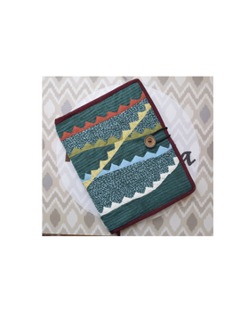 Hand embroidered diary sleeve with journal - STJ07-STJg07B-sm